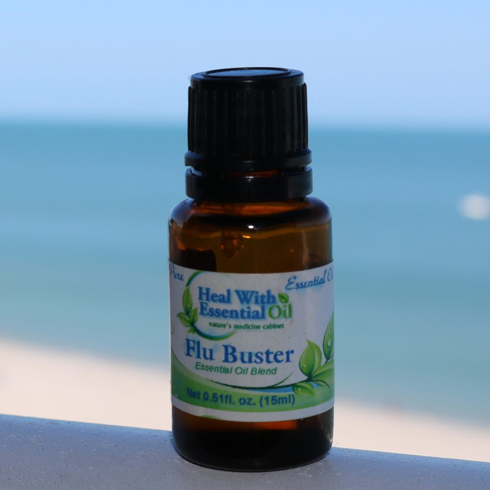 Flu Buster Essential Oil Blend: Lemon Essential Oil, Eucalyptus Essential Oil, Rosemary Essential Oil, Clove Essential Oil, Cinnamon Essential Oil